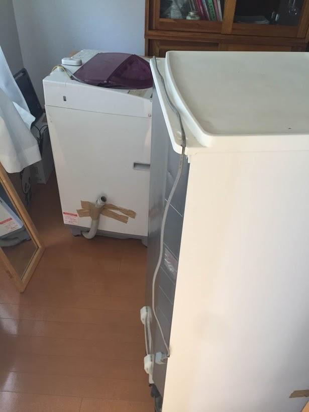 三木町冷蔵庫・洗濯機回収前